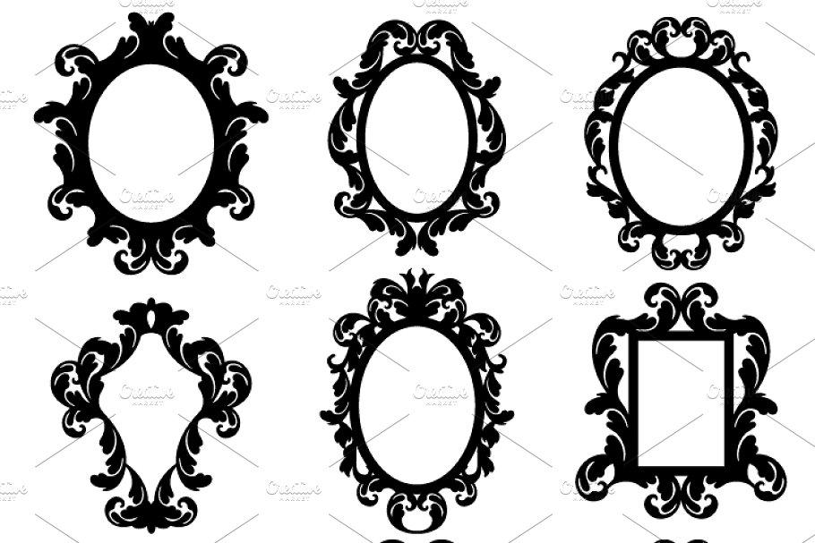 Baroque clipart vector stock Baroque Frames Vectors and Clipart vector stock