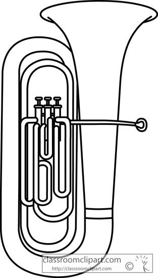 Barratone clipart image freeuse stock Baritone clipart black and white baritone clipart tuba large musical ... image freeuse stock