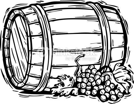 Barrel clipart black and white graphic black and white download Wine Barrel Clip Art | Appliqué quilting | Wine images, Wine, Clip art graphic black and white download