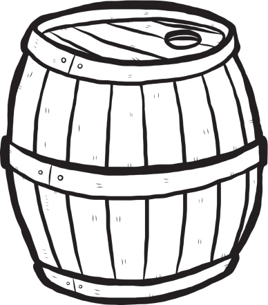 Barrel clipart black and white clipart free stock Barrel Clip Art Black And White Sketch Coloring Page - Clip Art Library clipart free stock