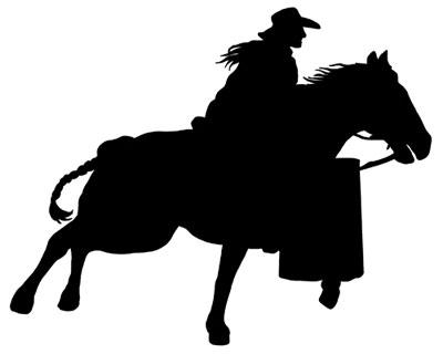 Barrel racing silhouette clipart clip transparent Download silhouette of a barrel racer clipart Horse Barrel racing ... clip transparent