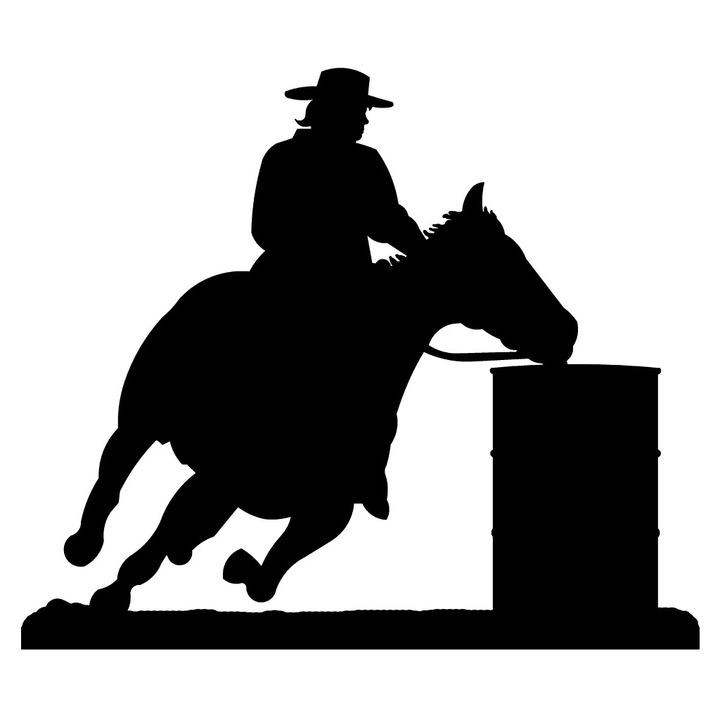 Barrel racing silhouette clipart vector freeuse library Free Barrel Racing Cliparts, Download Free Clip Art, Free Clip Art ... vector freeuse library