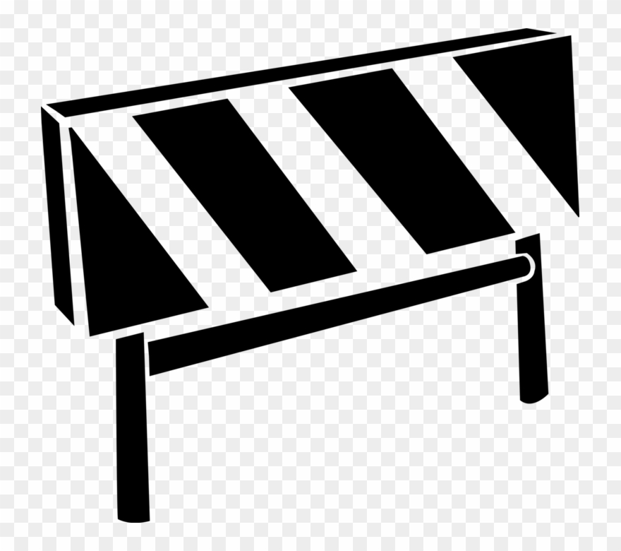 Barriers clipart black and white