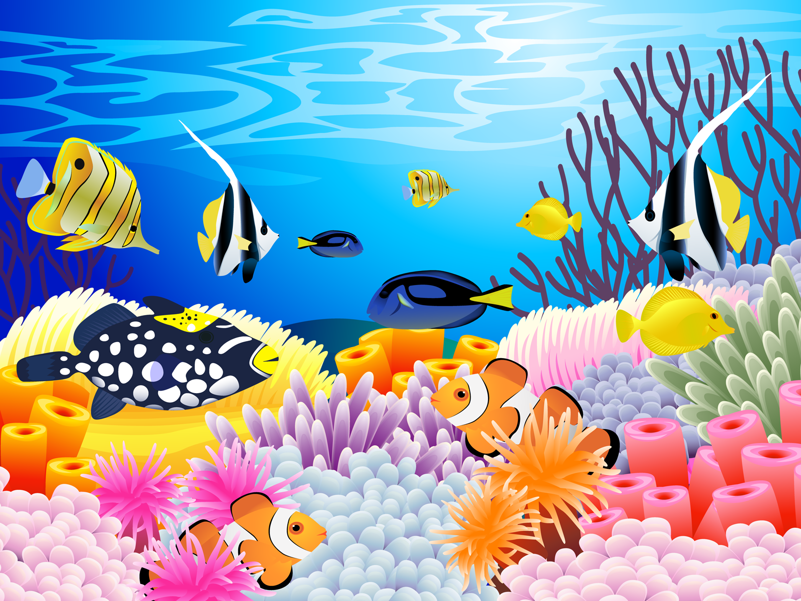 Under the sea wallpaper clipart clipart transparent library Free Coral Reef Cliparts, Download Free Clip Art, Free Clip Art on ... clipart transparent library