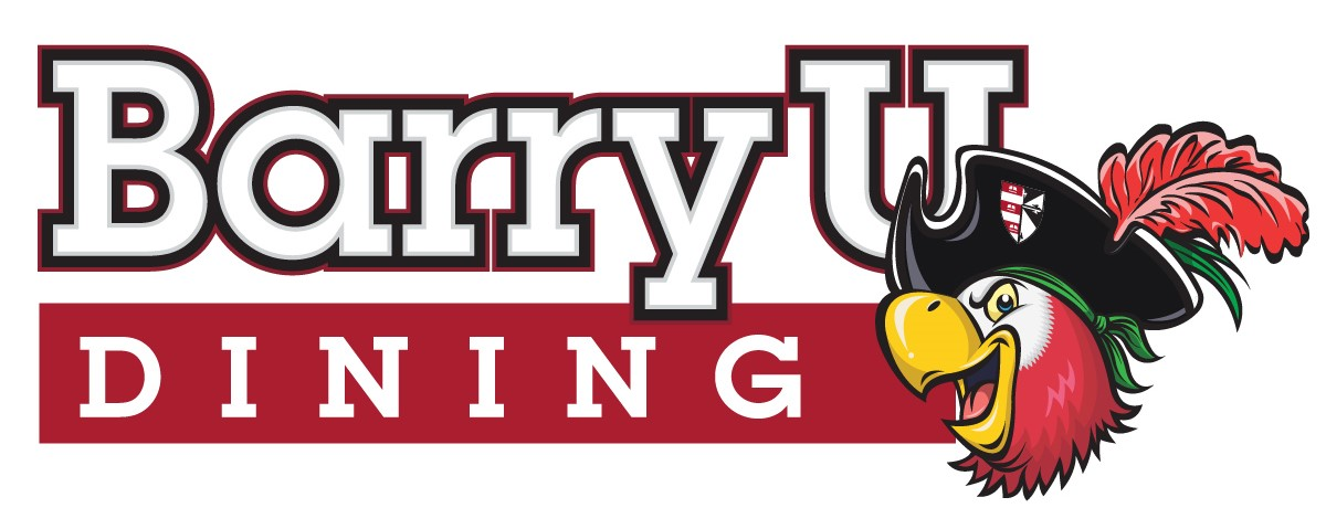 Barry university logo clipart vector black and white stock Dine On Campus at Barry University vector black and white stock