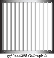 Bars clipart clipart black and white stock Prison Bars Clip Art - Royalty Free - GoGraph clipart black and white stock
