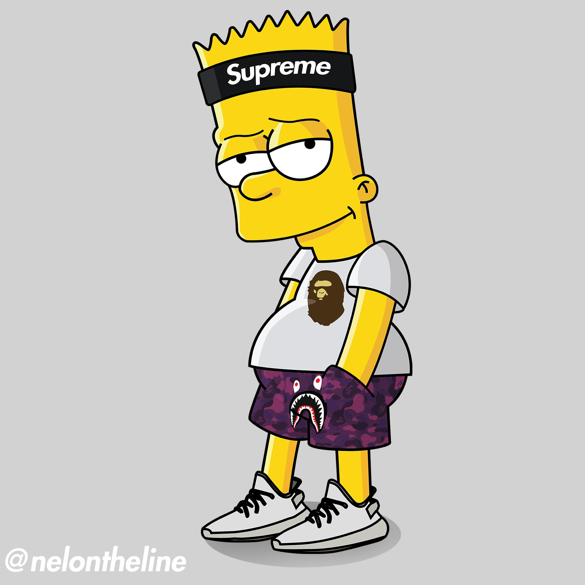 Bart simpson supreme clipart clipart freeuse stock Bart Simpson Hypebeasted #supreme #bape #yeezyboost #hypebeast | The ... clipart freeuse stock