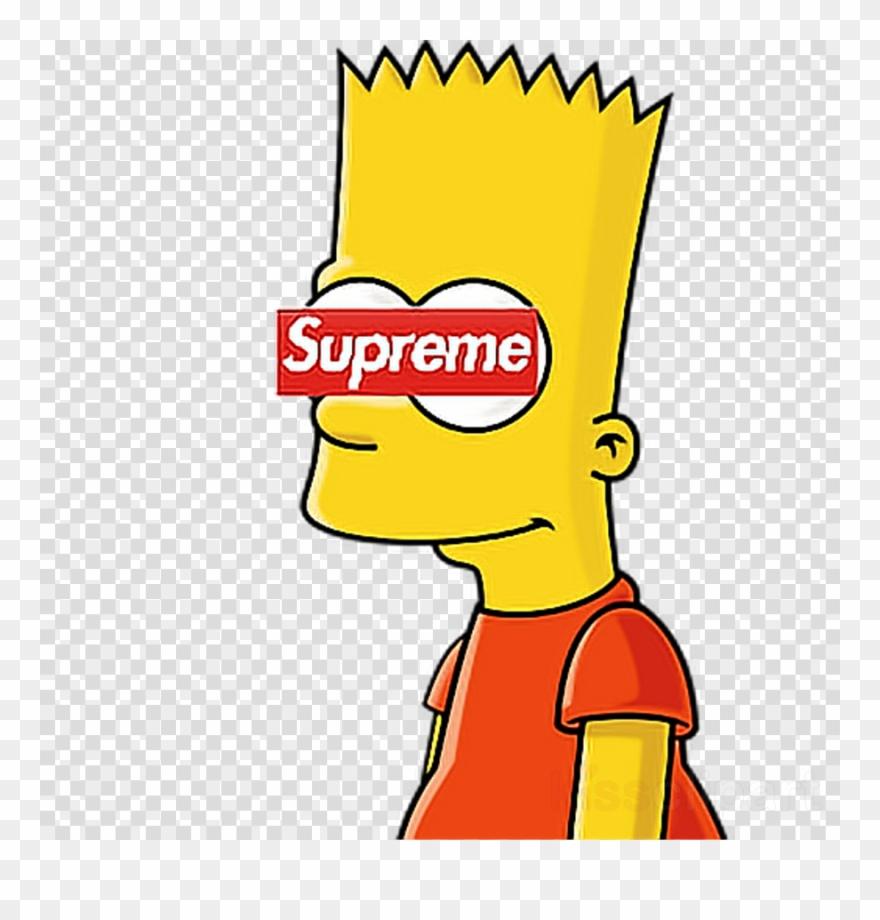 Bart simpson supreme clipart clip download Bart Clipart Uihere - Supreme Bart Simpson Drawings - Png Download ... clip download