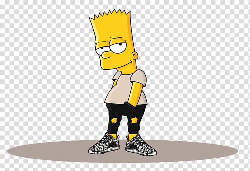 Bart simpson supreme clipart image royalty free library Simpson, Bart Simpson Homer Simpson Adidas Yeezy Drawing, Supreme ... image royalty free library
