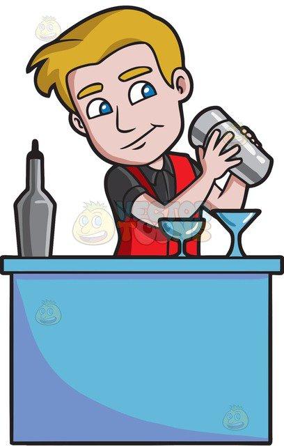 Bartender clipart images jpg black and white stock 82+ Bartender Clipart   ClipartLook jpg black and white stock