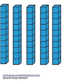 Transparent clipart base ten stick jpg library stock Base Ten Blocks Clipart | Free download best Base Ten Blocks Clipart ... jpg library stock