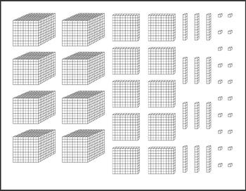 Base ten units clipart clip art stock Base Ten Blocks - Work Mats and Printables clip art stock