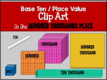 Base ten units clipart clipart free Base Ten Blocks Clip Art to 100,000 | art | Base ten blocks, Place ... clipart free