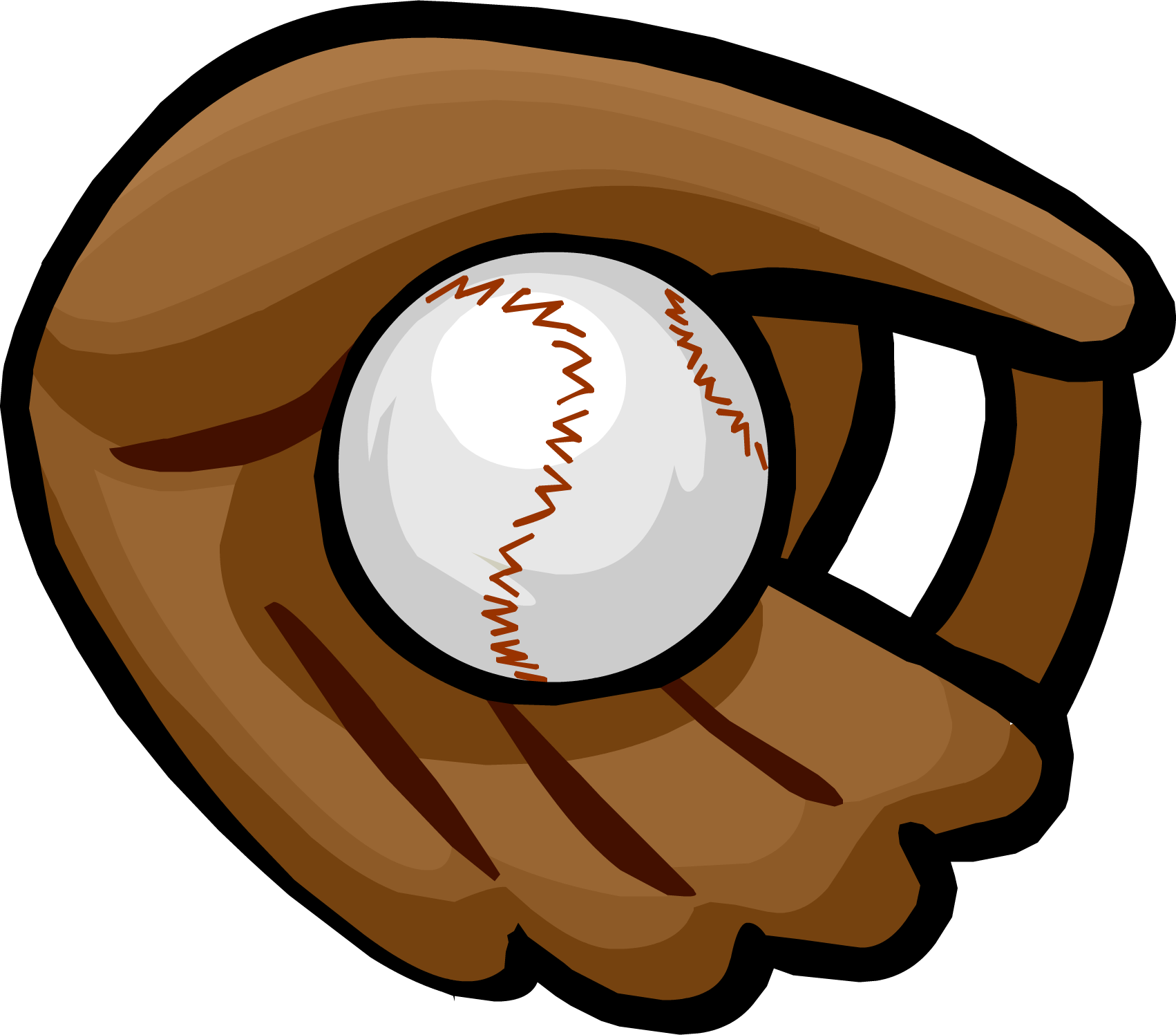 Clipart of baseball gear picture Image - Baseball Glove clothing icon ID 717.png | Club Penguin Wiki ... picture