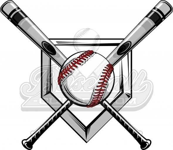 Baseball and bat with monogram in middle clipart banner royalty free library Crossed Baseball Bats Logo. Baseball Bats Image with Baseball ... banner royalty free library