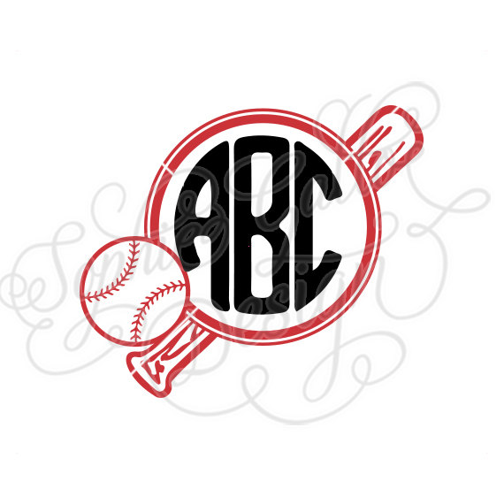 Baseball and bat with monogram in middle clipart banner royalty free library Ball & Bat Baseball Monogram SVG, DXF digital download files for ... banner royalty free library