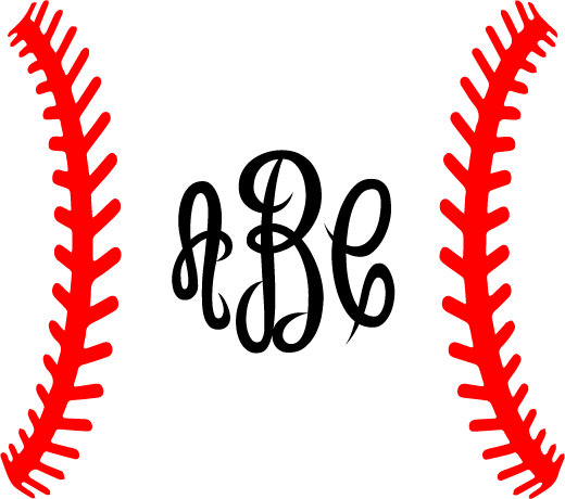 Baseball curved laces clipart clipart freeuse Baseball Laces SVG Baseball Monogram Frame SVG Silhouette | Cricut ... clipart freeuse