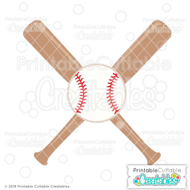 Baseball and bat with monogram in middle clipart banner stock Crossed Baseball Bats & Ball Free SVG File - Free SVG Cut Files ... banner stock