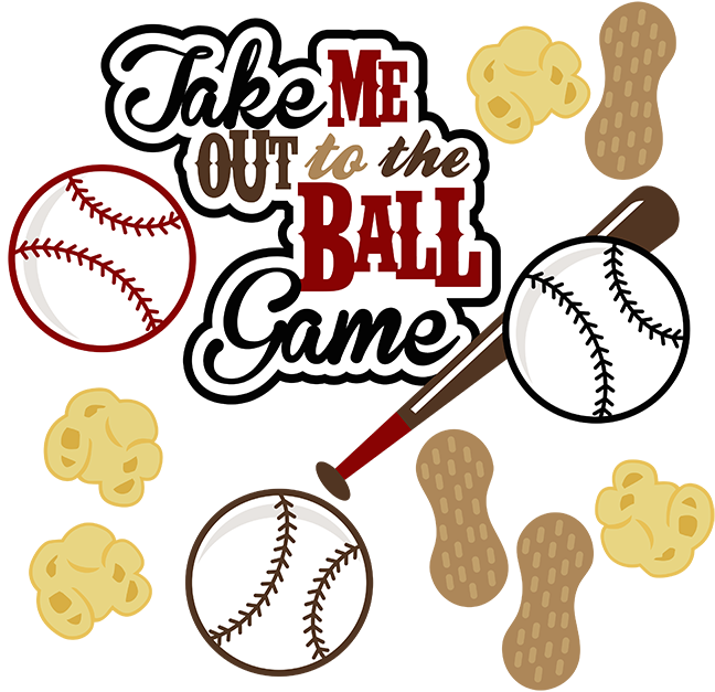 Baseball related clipart. Bat take me out