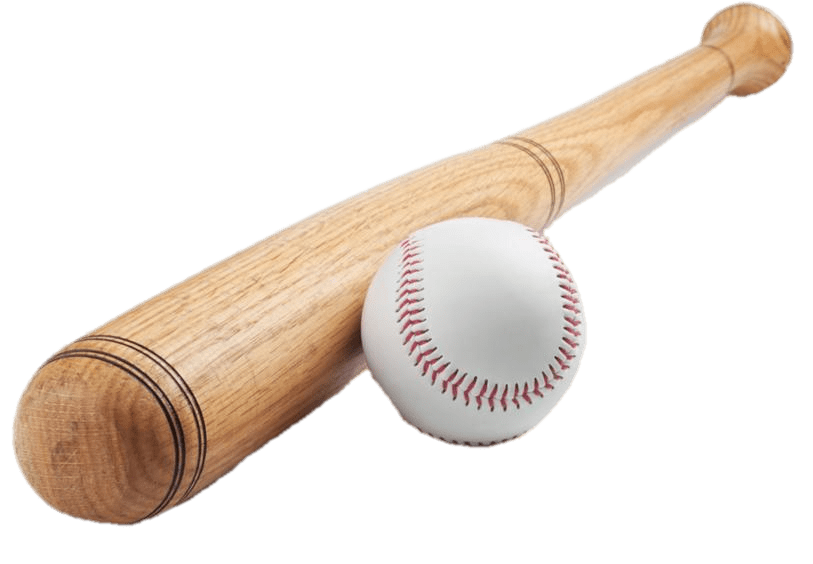 Wood baseball bat clipart image freeuse stock Baseball Bat & Ball transparent PNG - StickPNG image freeuse stock