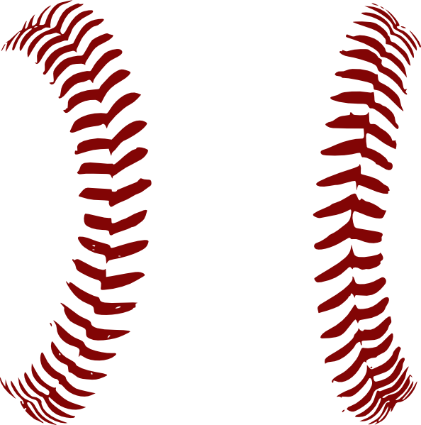 Red softball laces only. Baseball stitching clipart