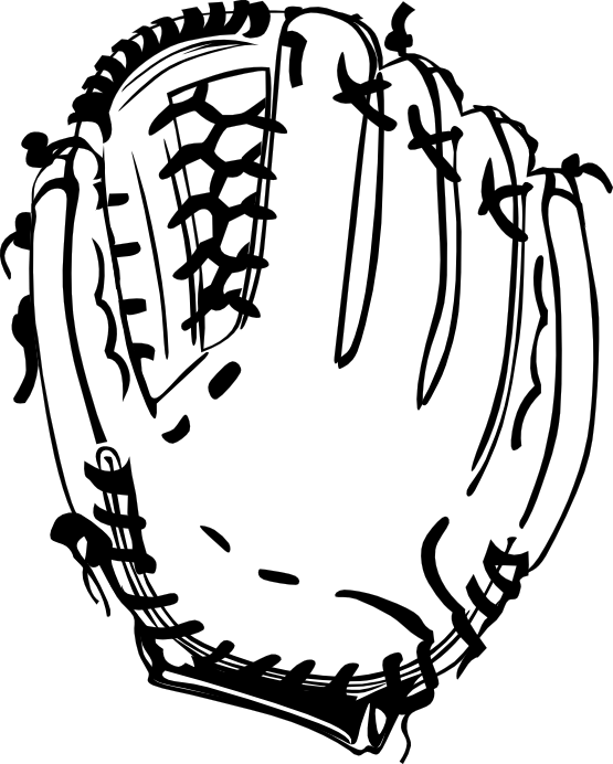 Baseball seams clipart vector royalty free library Baseball Glove Clipart Black And White | Clipart Panda - Free ... vector royalty free library