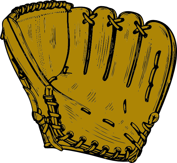 Baseball and glove clipart clip art black and white Baseball Glove Clip Art at Clker.com - vector clip art online ... clip art black and white