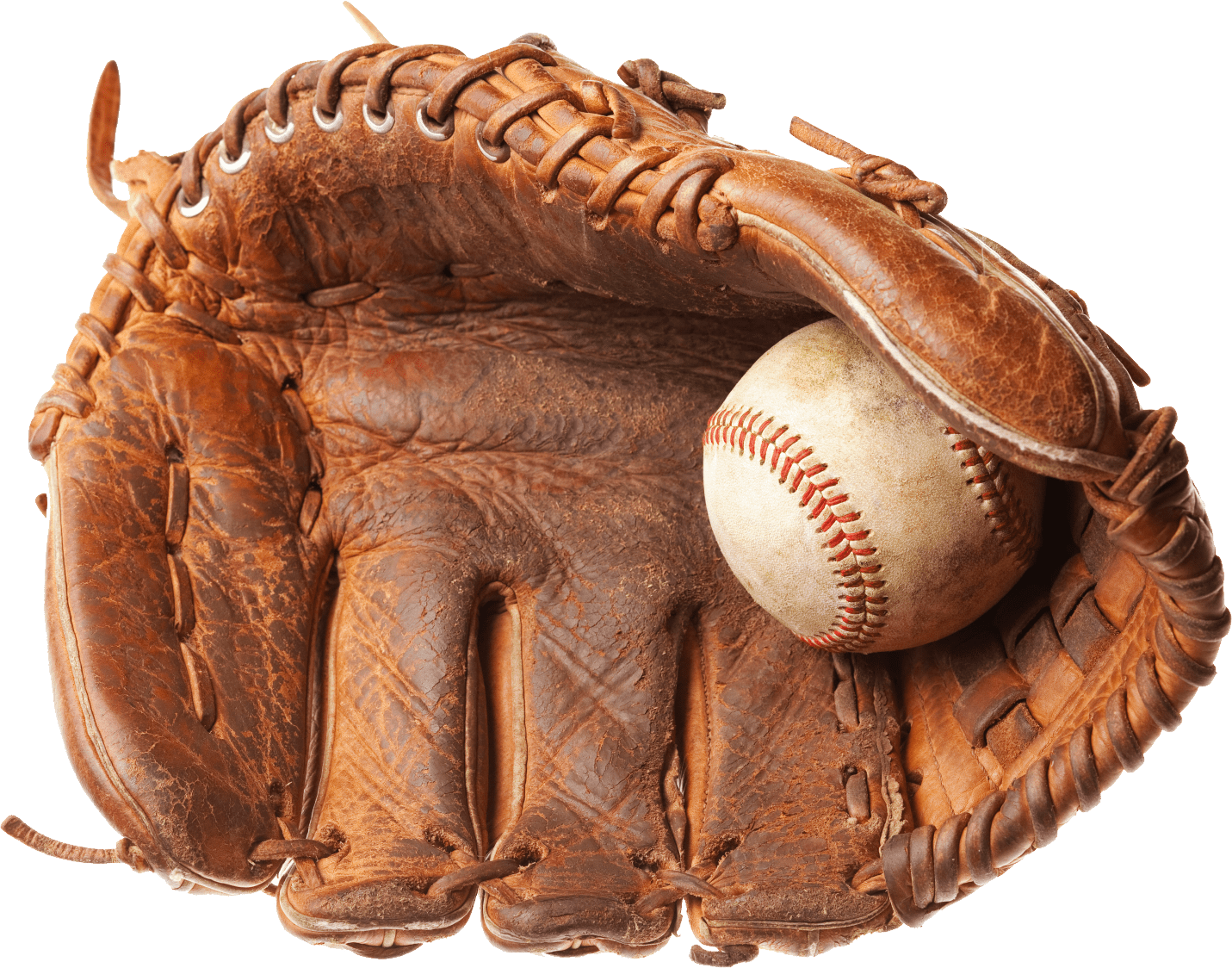 Clipart of baseball glove png transparent library Vintage Baseball Glove transparent PNG - StickPNG png transparent library