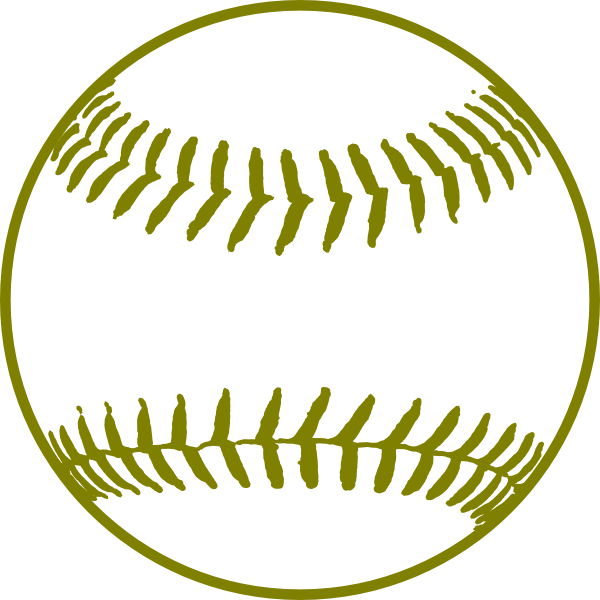 Free baseball clipart svg library stock Gold Softball Clip Art at Clker.com - vector clip art online ... svg library stock