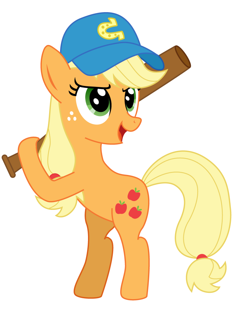 Baseball attention getter clipart png library stock Applejack Plays Baseball by Gutovi on DeviantArt png library stock