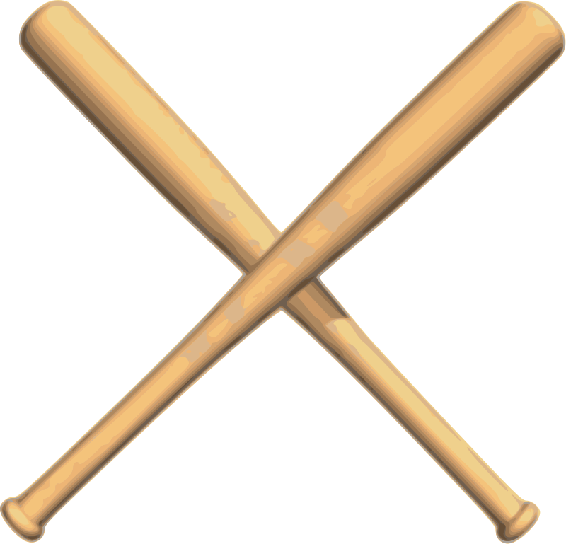 Free crossed baseball bats vector clipart vector library stock Crossed bats baseball | ⚾️Baseball Stuff⚾ | Pinterest | Clip ... vector library stock