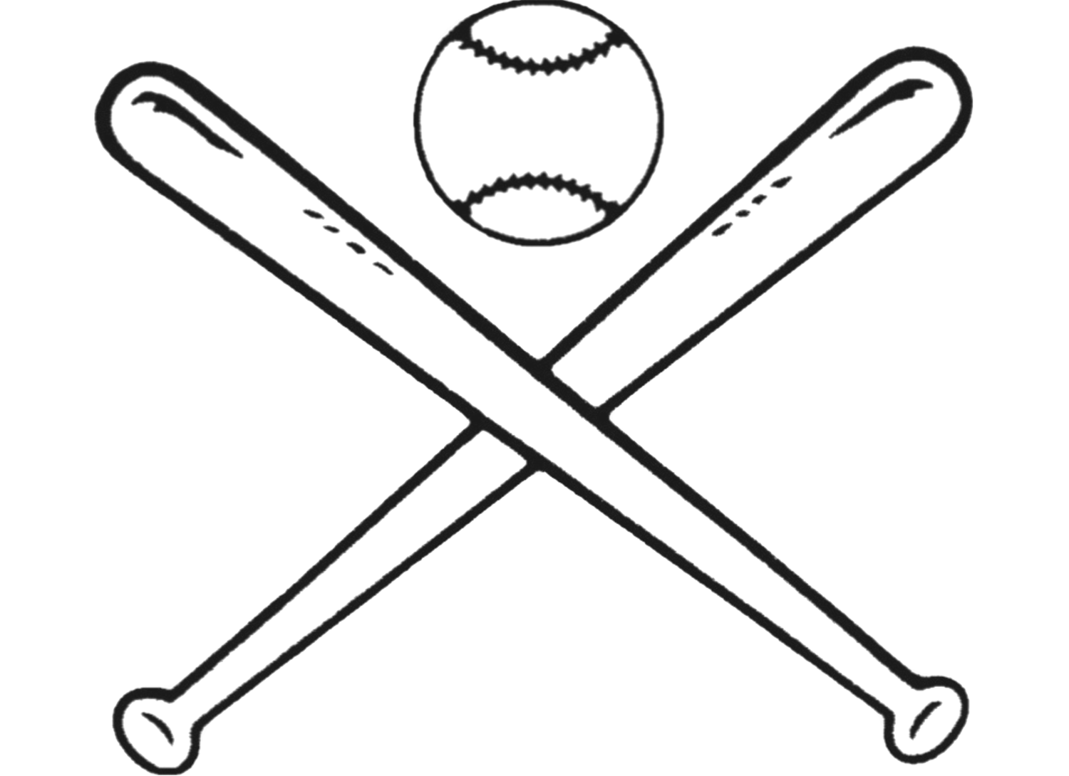 Baseball bat outline clipart svg transparent stock Baseball Bats Drawing Bat-and-ball games Clip art - sticks 1500*1090 ... svg transparent stock