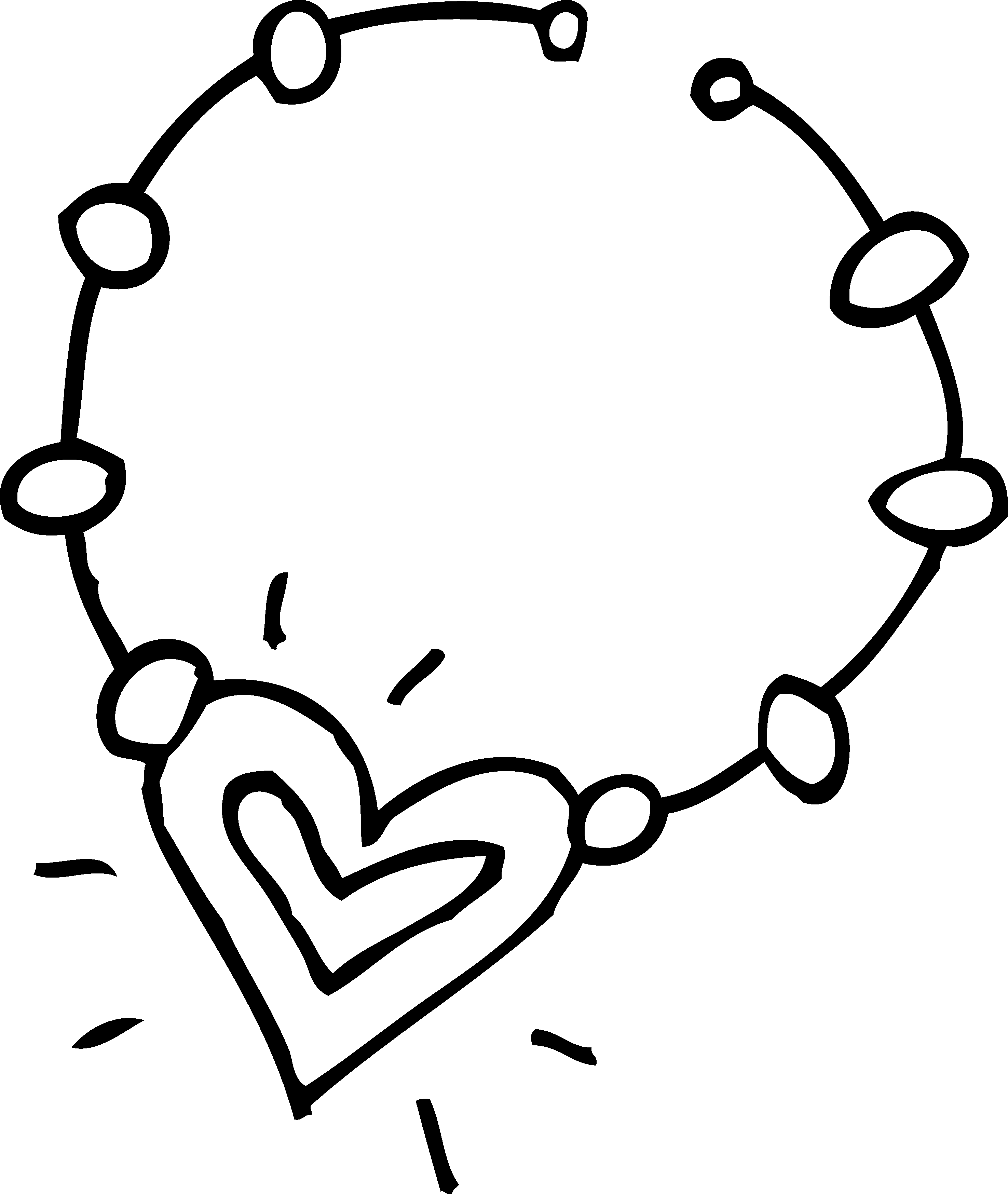 Heart chain clipart picture freeuse Baseball Diamond Clipart Black And White | Free download best ... picture freeuse