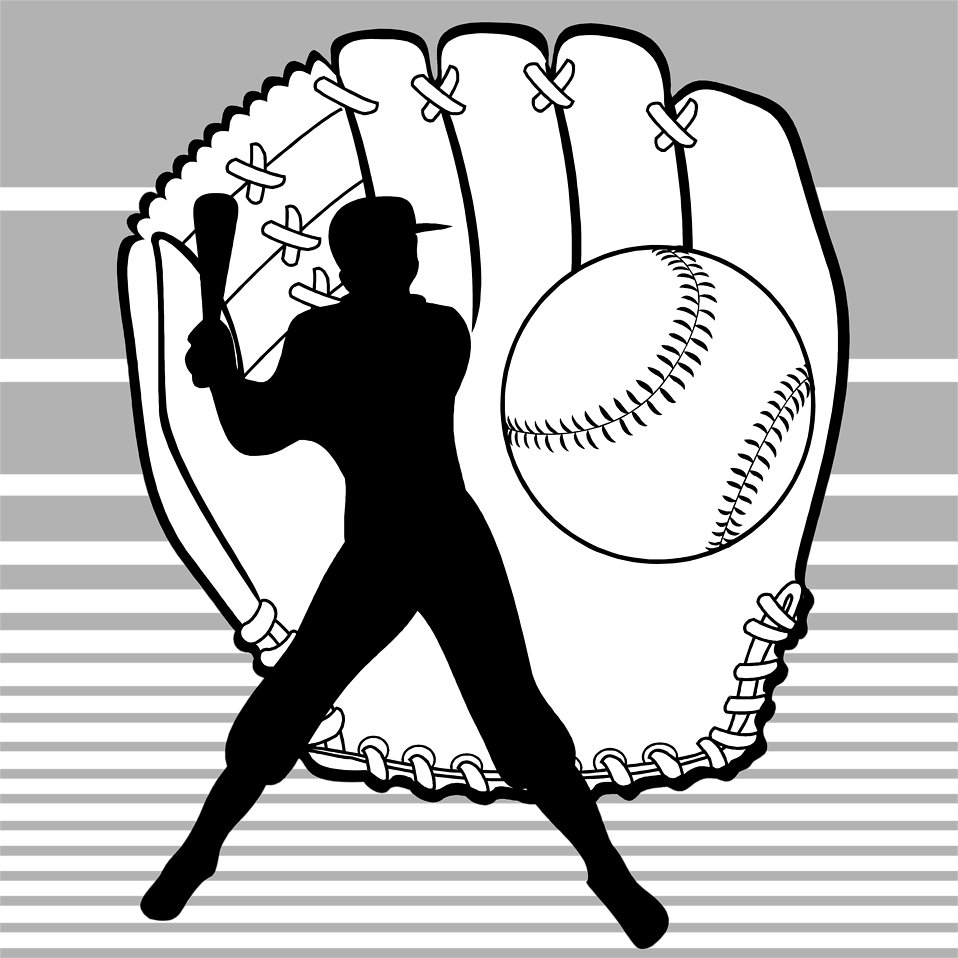 Batter baseball clipart png Best 15 Illustration Of Baseball Equipment And Batter Silhouette Pv ... png