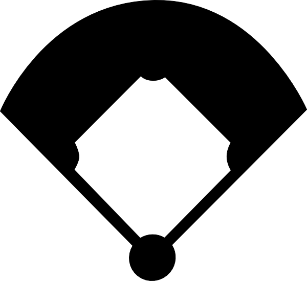 Baseball bats clipart black and white library Baseball Diamond Silhouette at GetDrawings.com | Free for personal ... black and white library