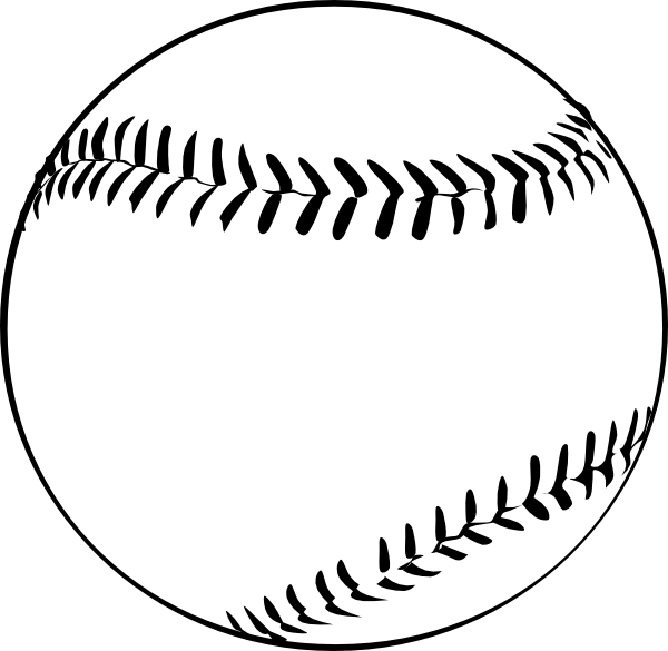 Half of a baseball clipart banner black and white stock Baseball Clip Art at Clker.com - vector clip art online, royalty ... banner black and white stock