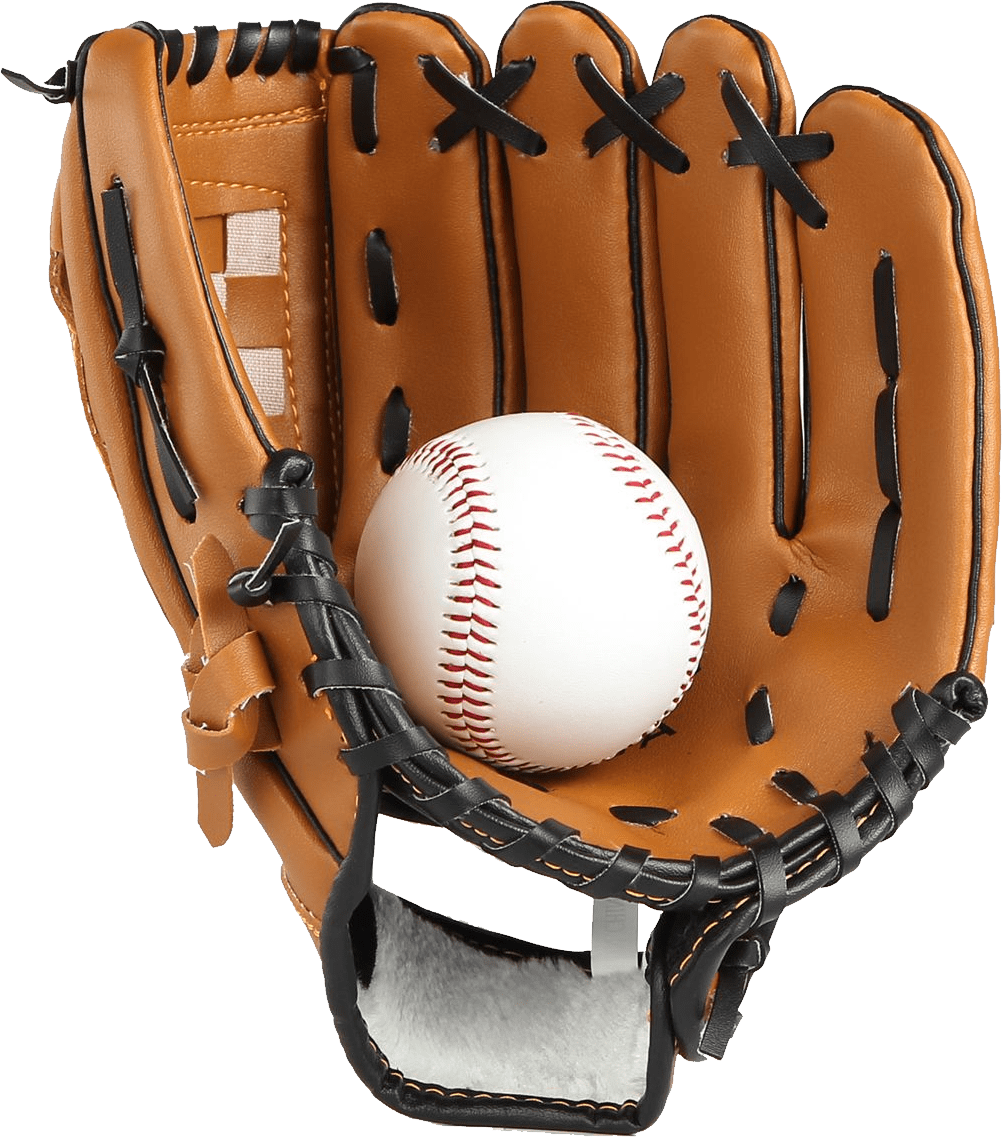 Baseball bat and glove clipart clip transparent stock Baseball Glove and Ball transparent PNG - StickPNG clip transparent stock