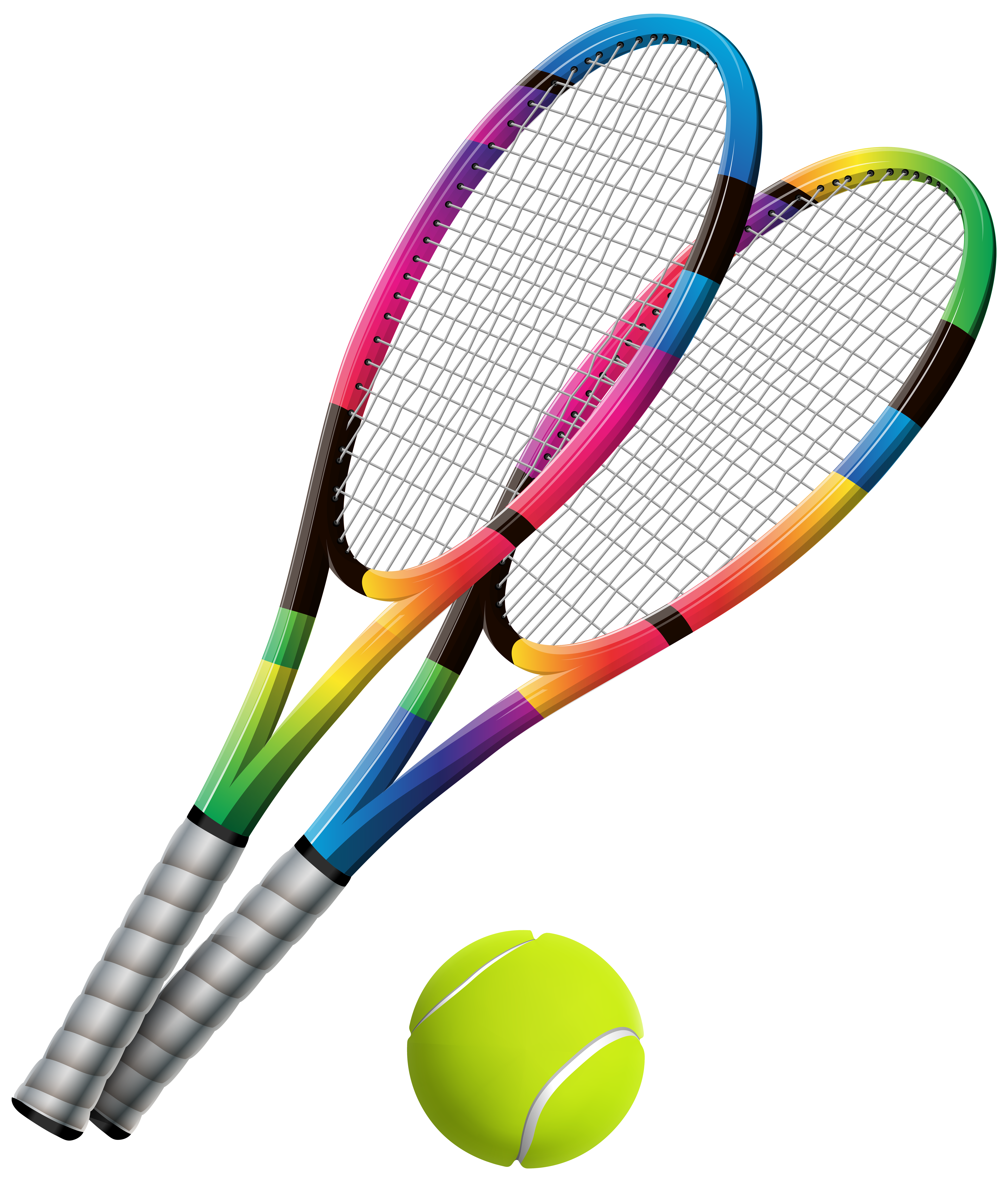 Clipart tennis racket with money clip art transparent download Tennis Rackets and Ball Transparent PNG Clip Art - Best WEB Clipart clip art transparent download
