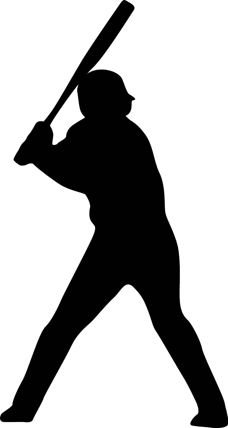 Baseball bat black and white clipart graphic freeuse stock Baseball player Batter Softball Clip art - baseball 800*1500 ... graphic freeuse stock
