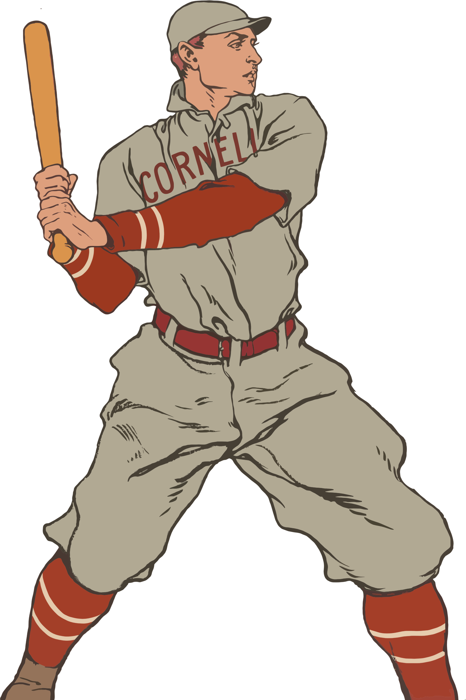 Baseball player throwing a ball clipart banner transparent download Clipart - Vintage Baseball Player banner transparent download