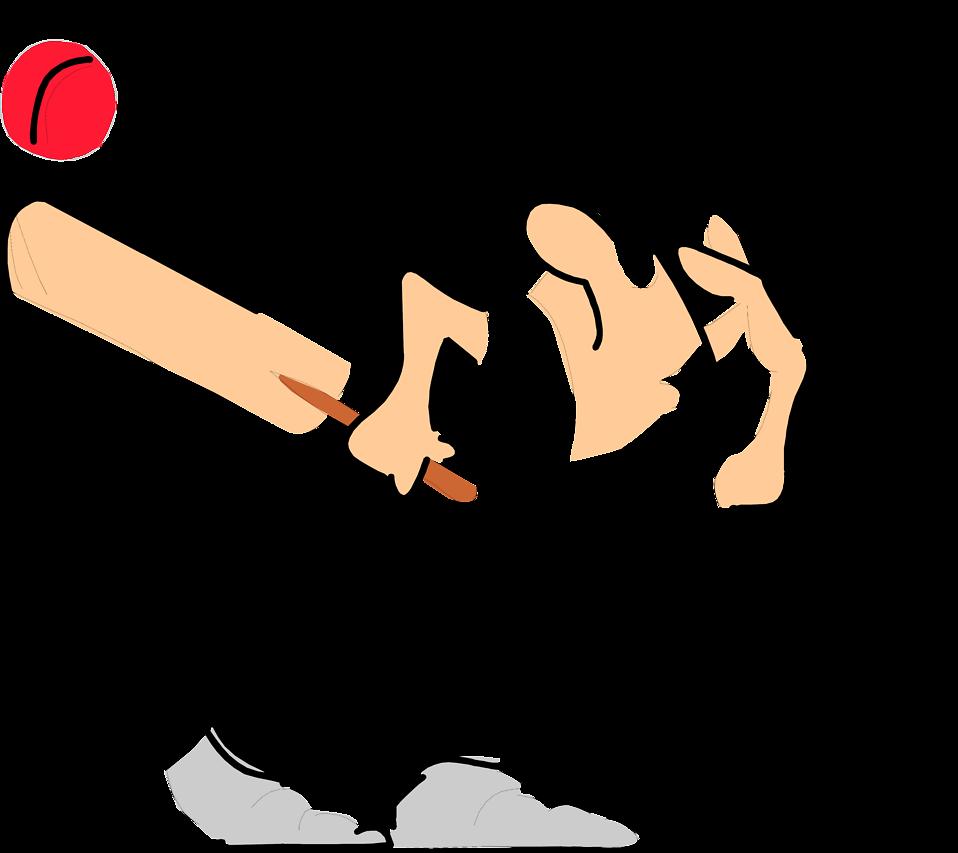 Baseball bat hitting ball clipart clip library download Cricket   Free Stock Photo   Illustration of a man dodging a cricket ... clip library download