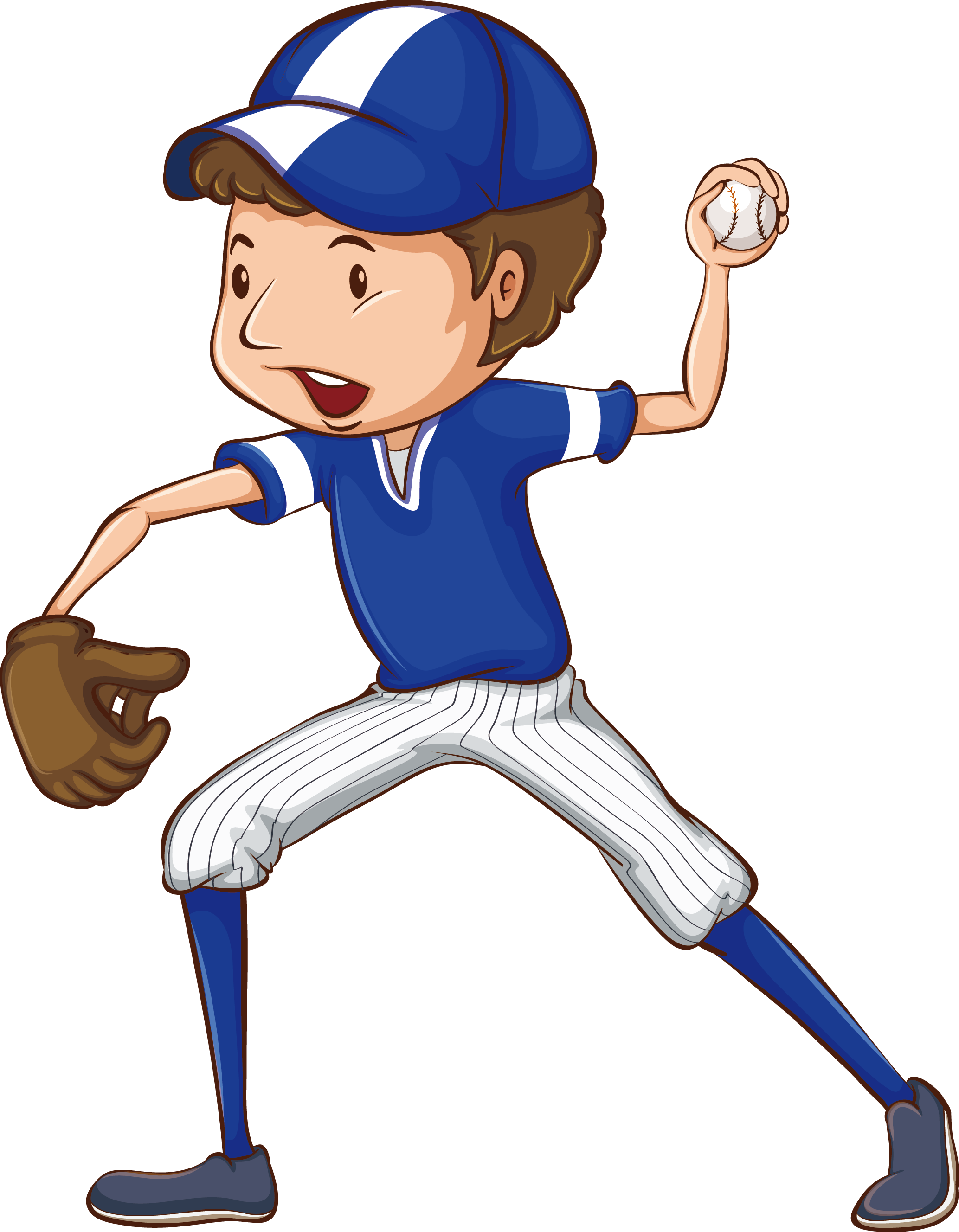 Baseball player throwing a ball clipart image royalty free stock Baseball Drawing Clip art - High school students baseball training ... image royalty free stock