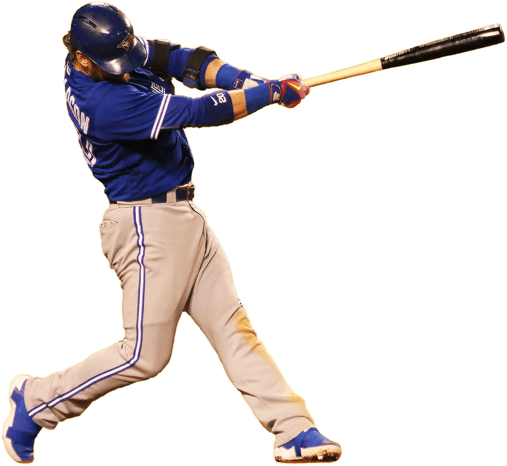 Baseball player swinging a bat clipart picture freeuse Toronto Blue Jays transparent PNG images - StickPNG picture freeuse