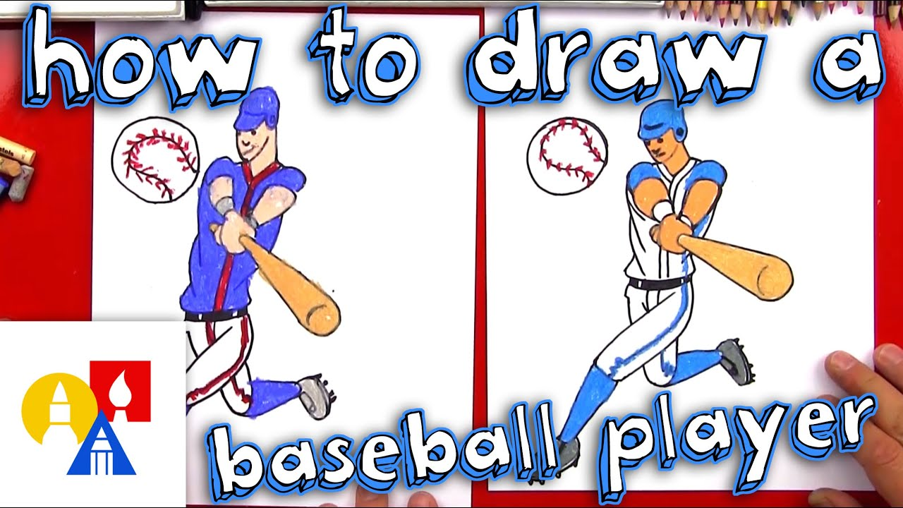 Baseball batter and catcher sketch drawing clipart clip library library How To Draw A Baseball Player clip library library