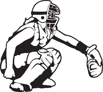 Catchers clipart svg royalty free stock Free softball clip art | Softball Team | Softball catcher, Softball ... svg royalty free stock