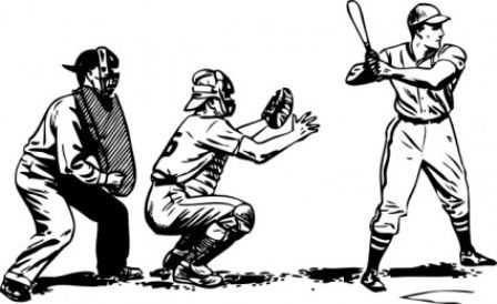 Baseball batter and catcher sketch drawing clipart banner black and white Vintage Baseball Cliparts | Free Download Clip Art | Free Clip Art ... banner black and white