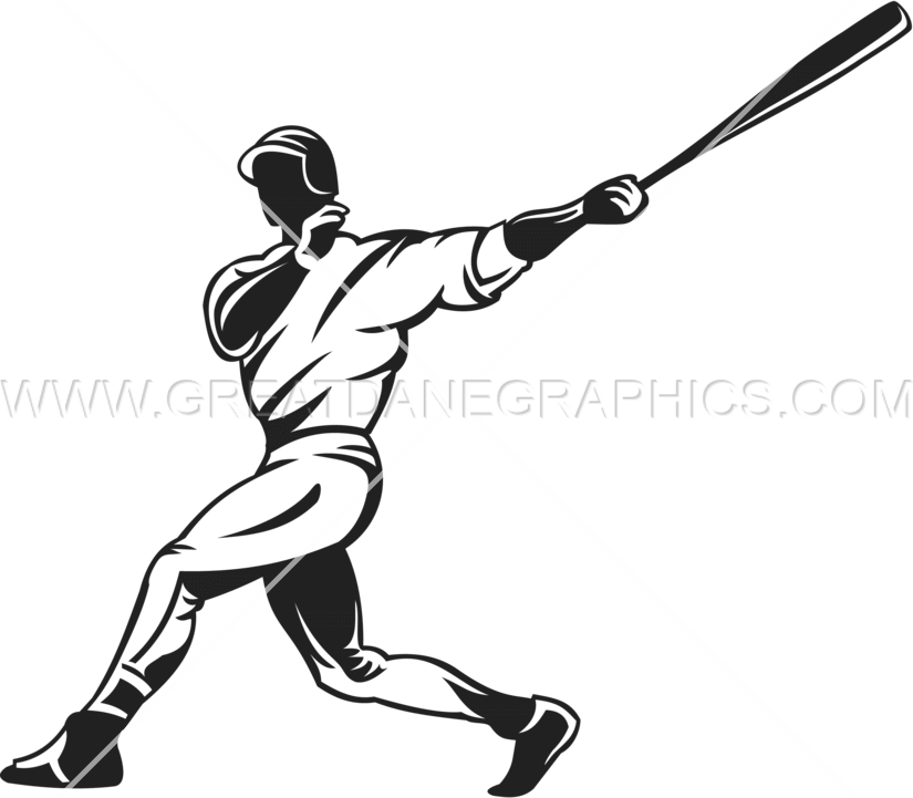 Batter baseball clipart picture royalty free stock Baseball Hitter | Production Ready Artwork for T-Shirt Printing picture royalty free stock