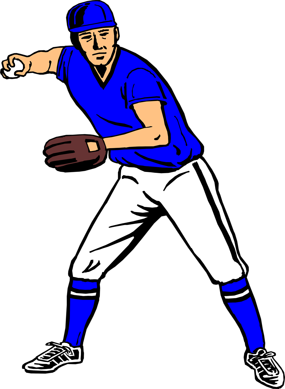 Baseball player throwing a ball clipart graphic royalty free stock Baseball | Free Stock Photo | Illustration of a baseball player ... graphic royalty free stock