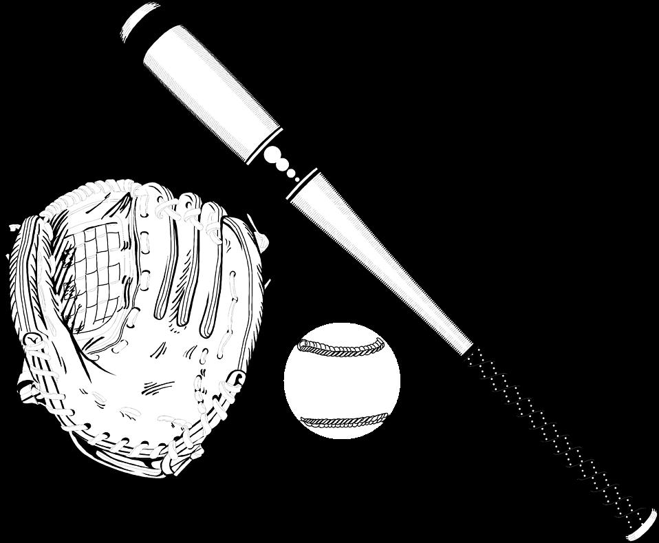 Baseball batter hitting ball clipart black and white image free download Baseball | Free Stock Photo | Illustration of a baseball equipment ... image free download