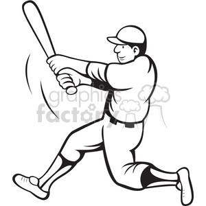 Hit clipart black and white clip art royalty free stock baseball batter swinging black white clipart . Royalty-free clipart # 388385 clip art royalty free stock